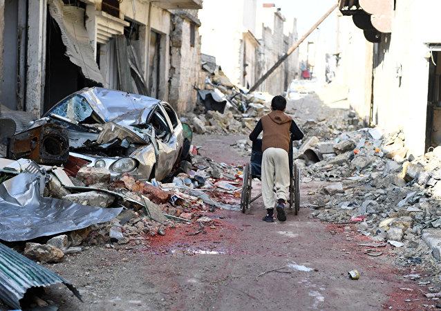 Un niño en Siria