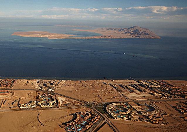 Islas de Tirán y Sanafir en el mar Rojo (archivo)