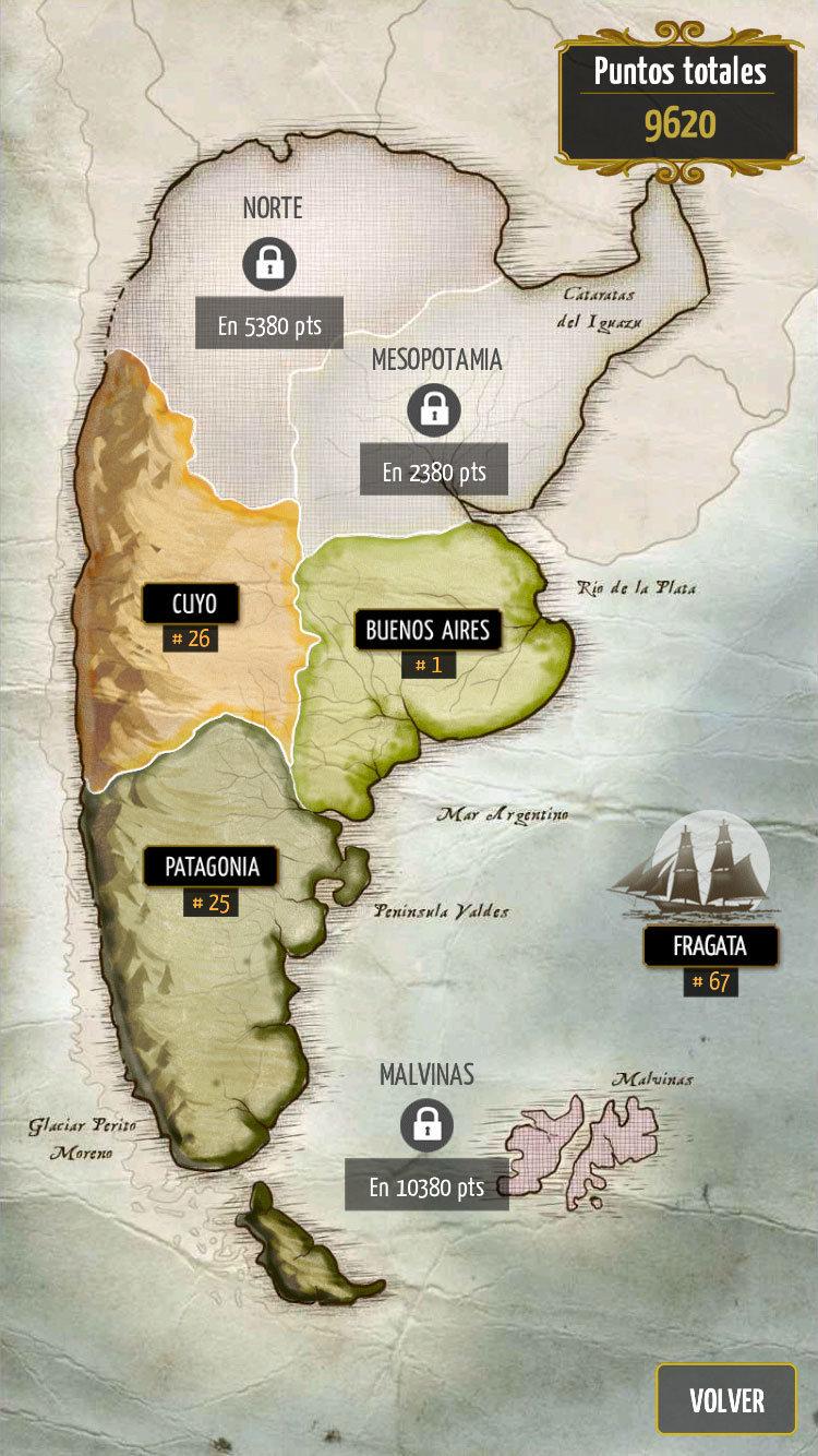 Regiones del juego Truco de Blyts