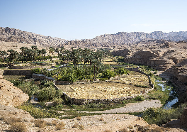 La maravillosa ciudad oasis en un desierto iraní