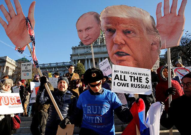 Estadounidenses protestan contra Trump