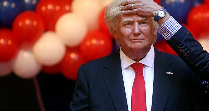 Figura de Donald Trump en el Museo de Cera de Madrid