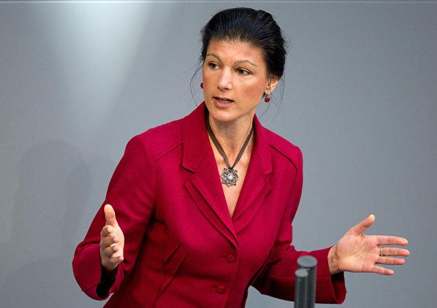 Sahra Wagenknecht, líder de la facción parlamentaria alemana Die Linke
