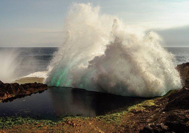 Una ola gigantesca (imagen referencial)