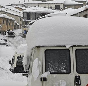 La nevada en Italia (imagen referencial)