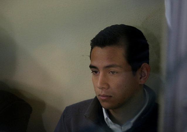 Jose Manuel, hijo de Jimmy Morales, presidente de Guatemala (archivo)