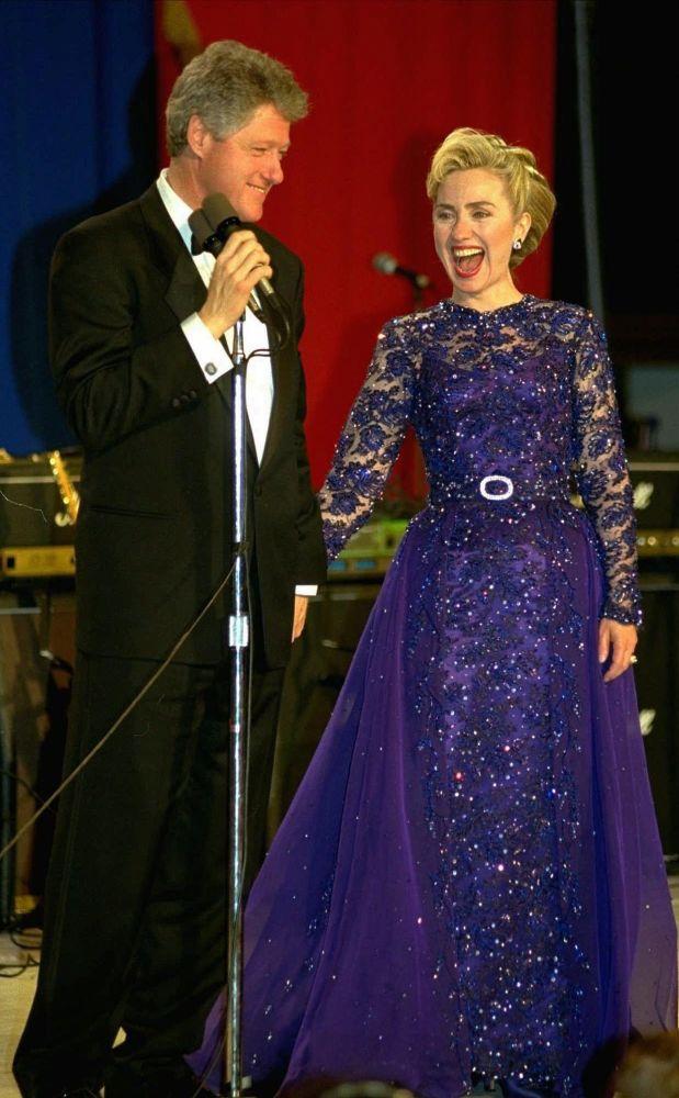 El presidente de Estados Unidos, Bill Clinton, y su esposa Hillary, en 1993
