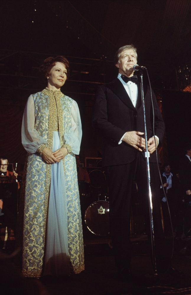 El presidente de EEUU, Jimmy Carter, junto su esposa Rosalynn, en la Casa Blanca, en 1977