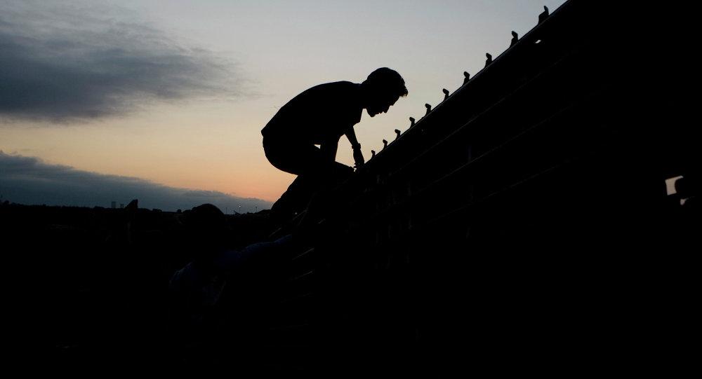 Migrante mexicano en la frontera entre México y EEUU (archivo)