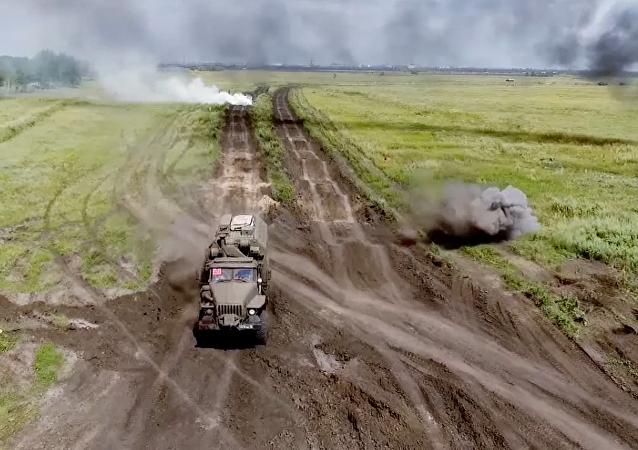 Los ingenieros militares rusos, en acción
