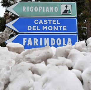 Avalancha de nieve en Farindola