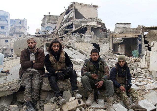 Combatientes de la oposición siria (archivo)