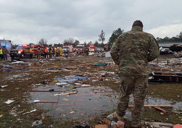 Consecuencias del tornado en Georgia