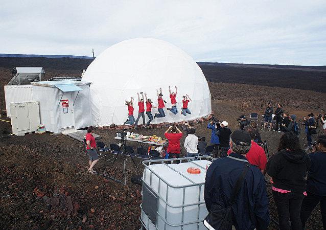 Simulacro de una misión a Marte en Hawái (archivo)