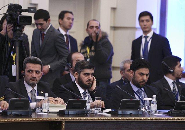 Delegación siria opositora en las negociaciones de Astaná (archivo)