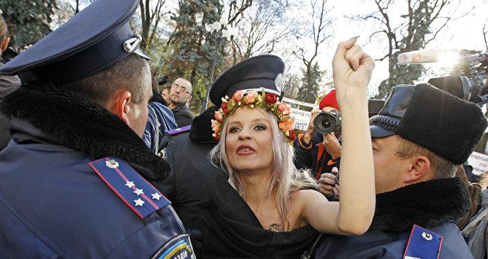 Una protesta de Femen en Ucrania (archivo)