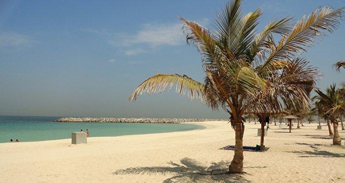 Una playa en Dubái