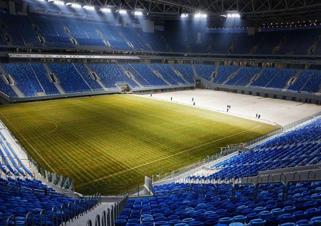 Un estadio de fútbol en San Petersburgo