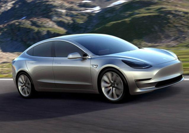 Un vehículo Tesla