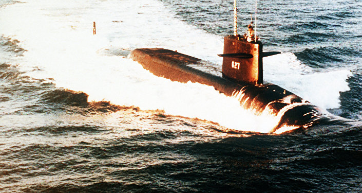 Submarino estadounidense USS James Madison (Archivo)