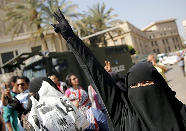 Miembro de los Hermanos Musulmanes en Egipto (archivo)