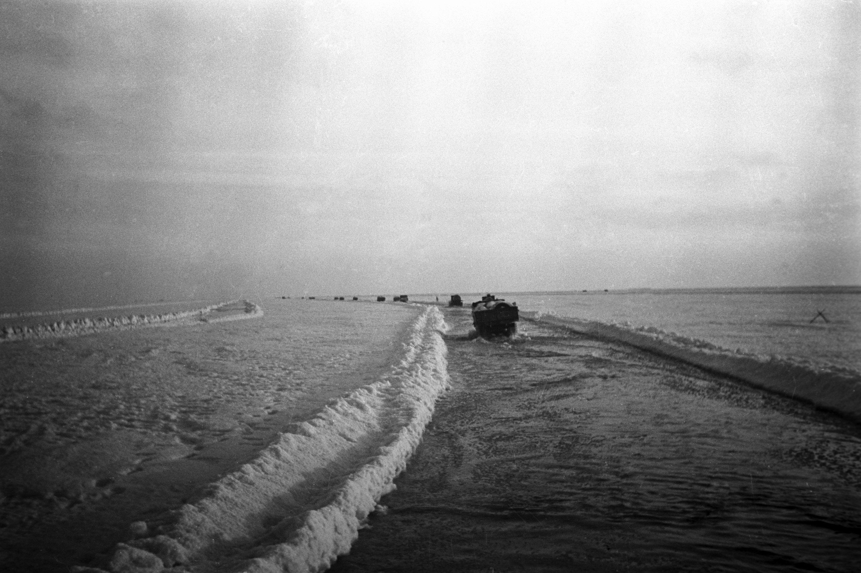 La única forma de acceder a la urbe era a través del lago Ládoga, el denominado 'Camino de la vida'