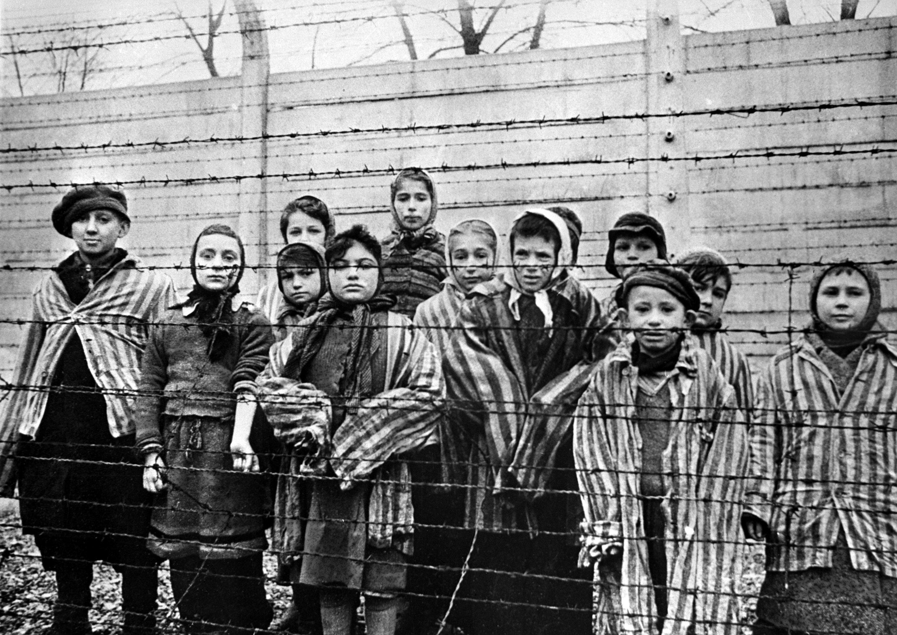 Niños del campo de exterminio de Auschwitz
