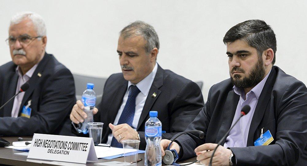 Los representantes de la oposición siria (archivo)