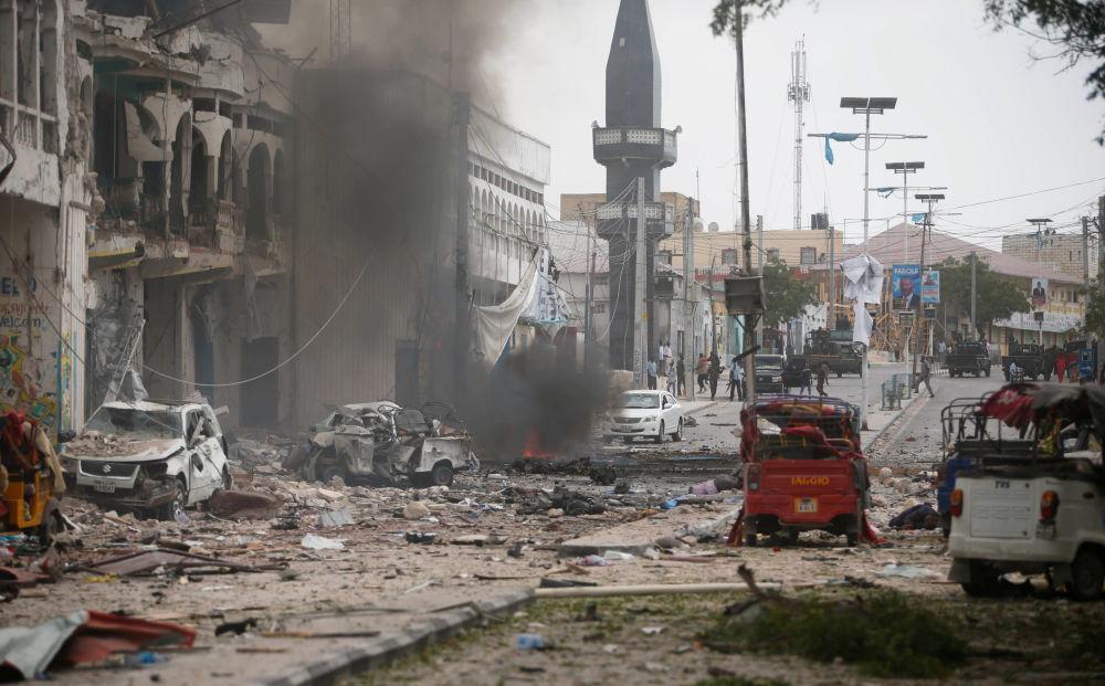 El hotel atacado en la capital de Somalia, Mogadiscio