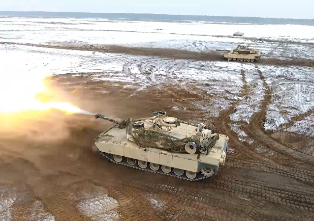 Los tanques M1 Abrams de EEUU, en acción en Polonia