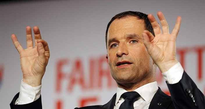 Benoît Hamon, candidato en las primarias socialistas en Francia