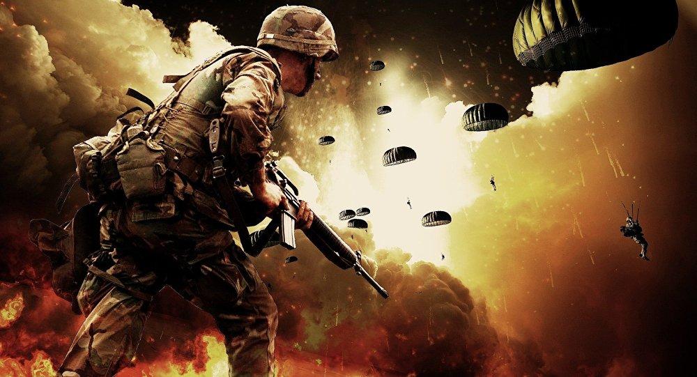 Un combatiente (imagen referencial)