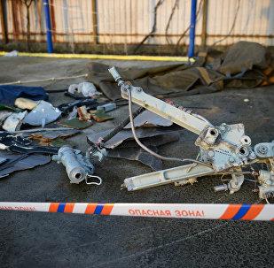 Los fragmentos de Tu-154 siniestrado