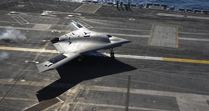 Dron X-47B norteamericano (imagen referencial)