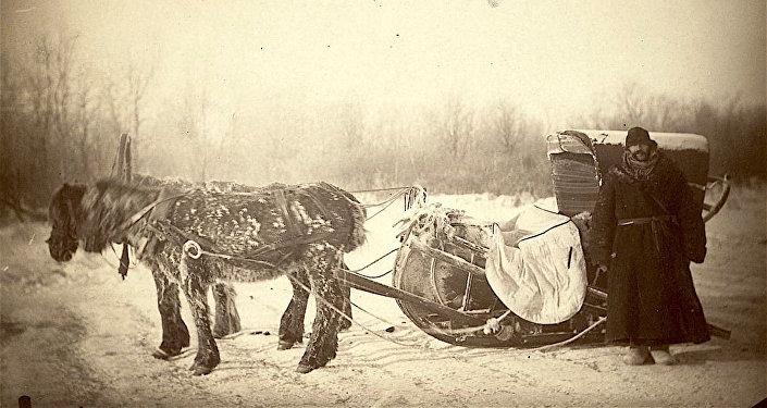 Un carro de correos en Siberia
