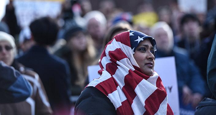 Protestas en Nueva York contra la orden migratoria de Trump
