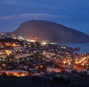 Ciudad de Gurzuf en Crimea
