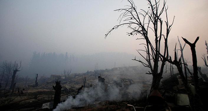 Las consecuencias de incendios en Chile