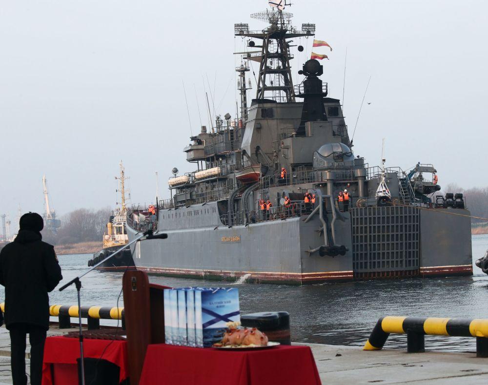 El esperado retorno de la nave Alexandr Shabalin a Baltisk