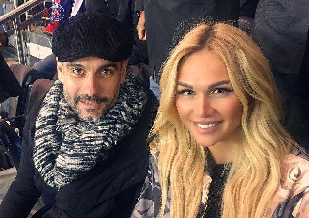 Josep Guardiola y Victoria Lopyreva, 30 de enero de 2017