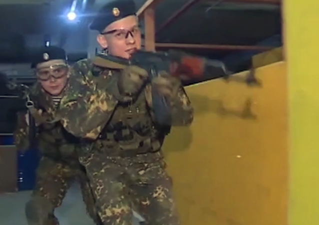 Las maniobras de cadetes rusos