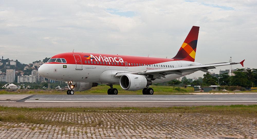 Avión de la empresa colombiana Avianca