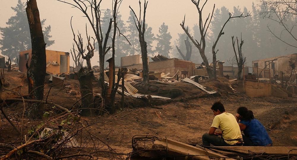 Las consecuencias de los incendios forestales en Chile