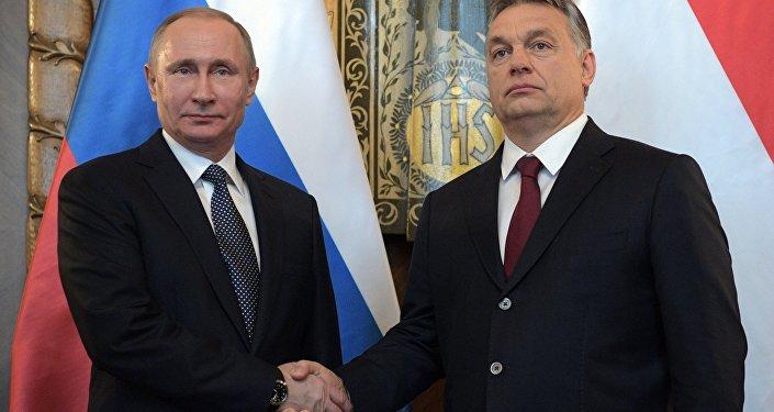 El presidente ruso Vladímir Putin durante su visita de trabajo a Hungría