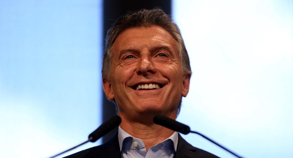 El Presidente argentino, Mauricio Macri