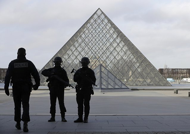Policías franceses cerca de Louvre ( archivo)