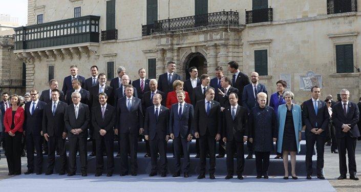 Los líderes de la Unión Europea en la Cumbre de Malta