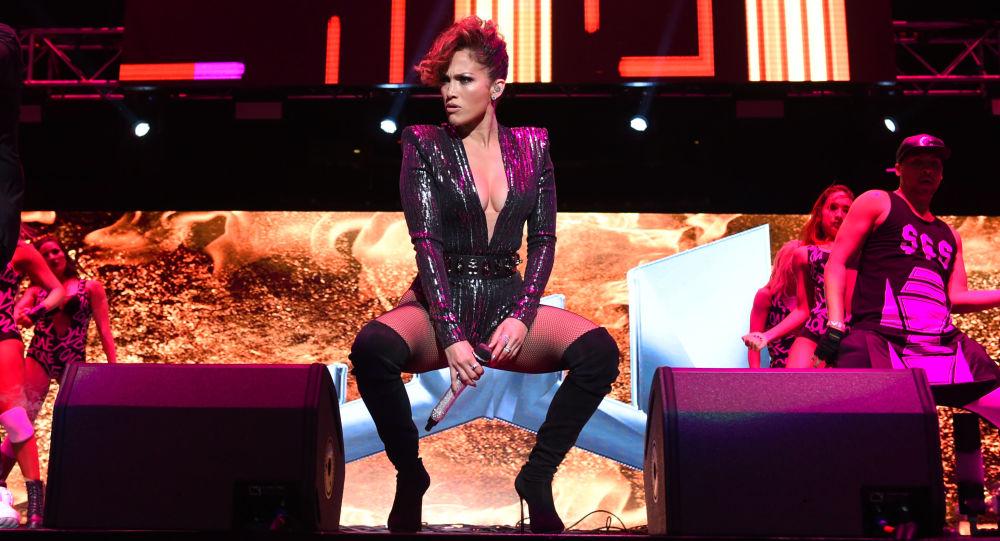 Jennifer López en un concierto en el Madison Square Garden