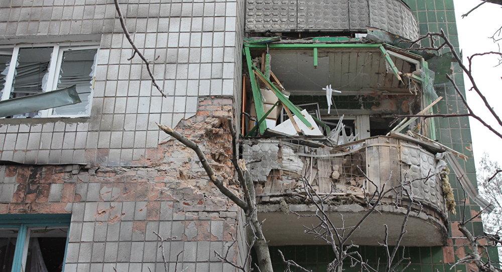 Consecuencias de bombardéos de Donetsk