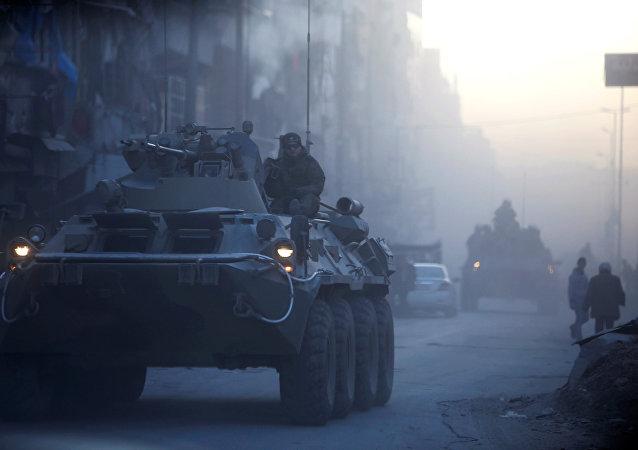 Militares rusos en Alepo, Siria (archivo)